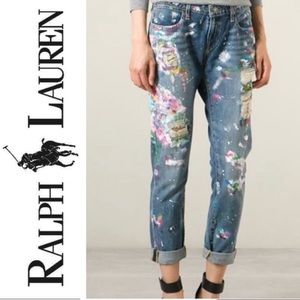 REPOSH Polo Ralph Lauren paint splattered jeans